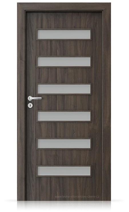 Interiérové dveře Porta FIT F.6 Portasynchro 3D DUB TMAVÝ