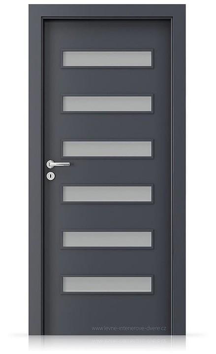 Interiérové dveře Porta FIT F.6 Laminát CPL HQ ANTRACIT HPL/CPL