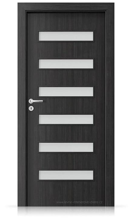 Interiérové dveře Porta FIT F.6 Laminát CPL HQ STRUKTURA TMAVÁ