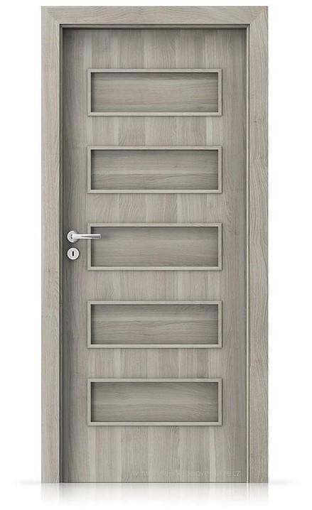 Interiérové dveře Porta FIT G.0 Portasynchro 3D AKÁT STŘÍBRNÝ