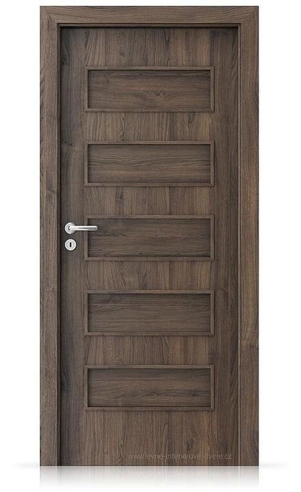 Interiérové dveře Porta FIT G.0 Portasynchro 3D DUB ŠARLATOVÝ