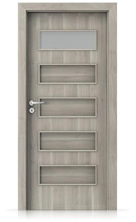 Interiérové dveře Porta FIT G.1 Portasynchro 3D AKÁT STŘÍBRNÝ