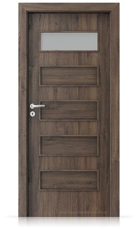 Interiérové dveře Porta FIT G.1 Portasynchro 3D DUB ŠARLATOVÝ
