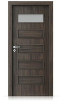 Interiérové dveře Porta FIT G.1 Portasynchro 3D DUB TMAVÝ