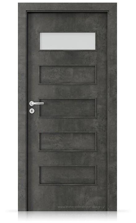 Interiérové dveře Porta FIT G.1 Laminát CPL HQ BETON TMAVÝ