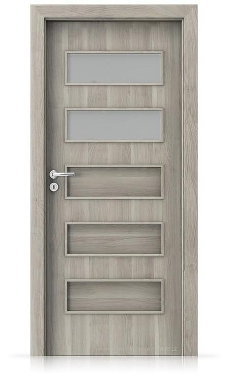 Interiérové dveře Porta FIT G.2 Portasynchro 3D AKÁT STŘÍBRNÝ