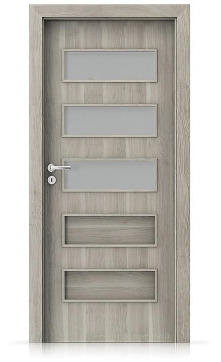 Interiérové dveře Porta FIT G.3 Portasynchro 3D AKÁT STŘÍBRNÝ