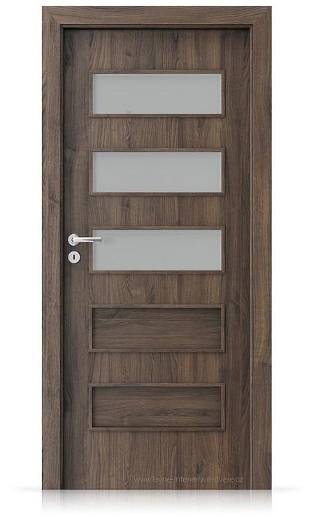 Interiérové dveře Porta FIT G.3 Portasynchro 3D DUB ŠARLATOVÝ