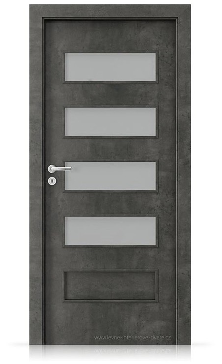 Interiérové dveře Porta FIT G.4 Laminát CPL HQ BETON TMAVÝ