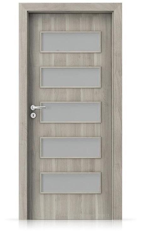 Interiérové dveře Porta FIT G.5 Portasynchro 3D AKÁT STŘÍBRNÝ