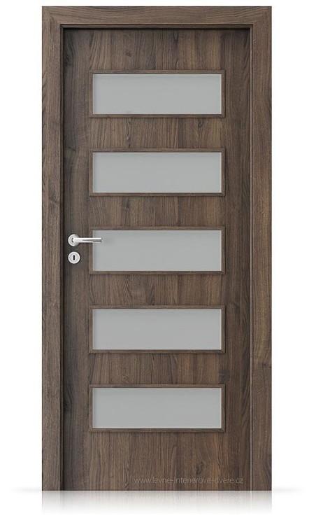 Interiérové dveře Porta FIT G.5 Portasynchro 3D DUB ŠARLATOVÝ