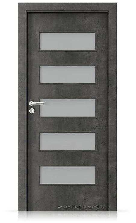 Interiérové dveře Porta FIT G.5 Laminát CPL HQ BETON TMAVÝ