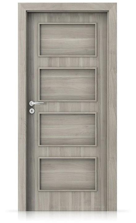 Interiérové dveře Porta FIT H.0 Portasynchro 3D AKÁT STŘÍBRNÝ