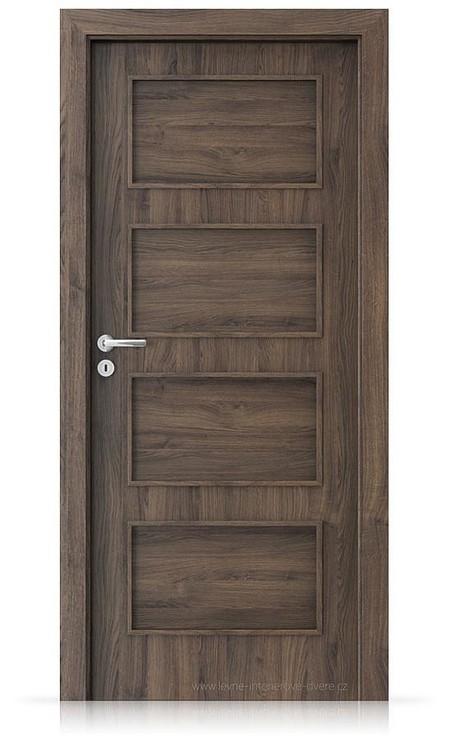 Interiérové dveře Porta FIT H.0 Portasynchro 3D DUB ŠARLATOVÝ