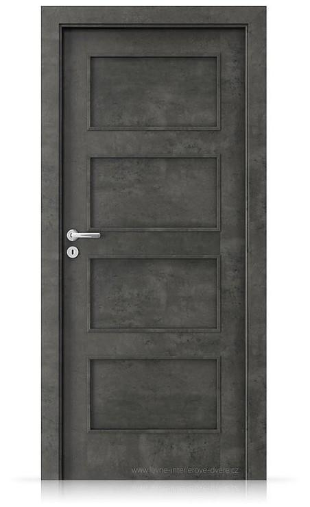 Interiérové dveře Porta FIT H.0 Laminát CPL HQ BETON TMAVÝ