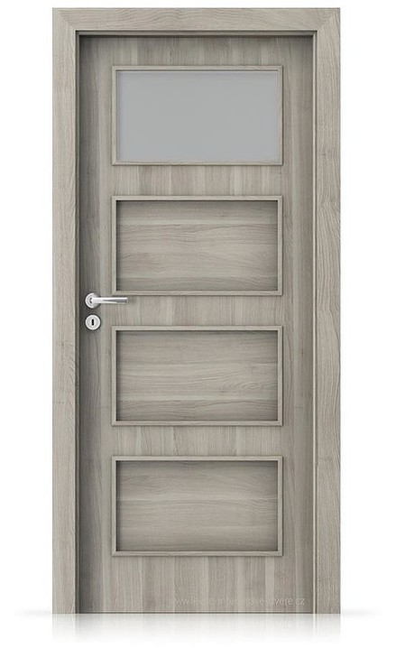 Interiérové dveře Porta FIT H.1 Portasynchro 3D AKÁT STŘÍBRNÝ
