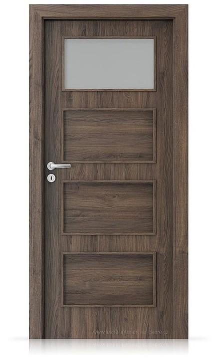 Interiérové dveře Porta FIT H.1 Portasynchro 3D DUB ŠARLATOVÝ
