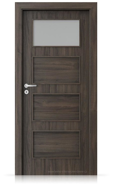 Interiérové dveře Porta FIT H.1 Portasynchro 3D DUB TMAVÝ