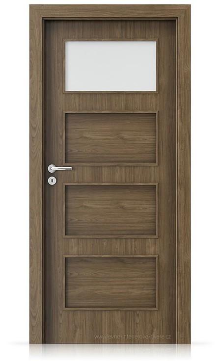 Interiérové dveře Porta FIT H.1 Laminát CPL HQ OŘECH PŘÍRODNÍ