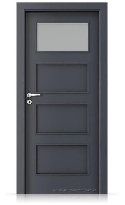 Interiérové dveře Porta FIT H.1 Laminát CPL HQ ANTRACIT HPL/CPL