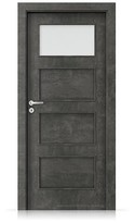Interiérové dveře Porta FIT H.1 Laminát CPL HQ BETON TMAVÝ
