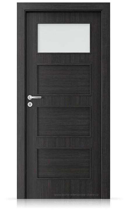Interiérové dveře Porta FIT H.1 Laminát CPL HQ STRUKTURA TMAVÁ