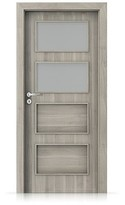 Interiérové dveře Porta FIT H.2 Portasynchro 3D AKÁT STŘÍBRNÝ