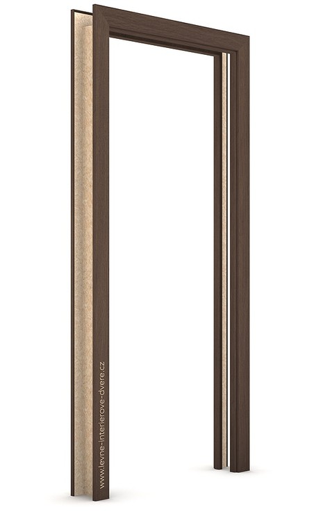 Zárubeň pro posuvné dveře do pouzdra (do zdi) KOMPAKT Portaperfect 3D DUB HAVANA