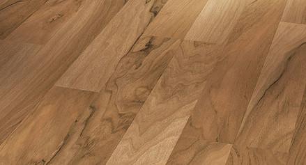 Laminátová podlaha Basic 200 Ořech struktura dřeva parketový vzor 2-pásový bez drážky (1426416)