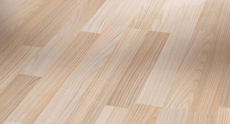Laminátová podlaha Basic 200 Jasan broušený jemně matná struktura parketový vzor 3-pásový bez drážky (1426399)