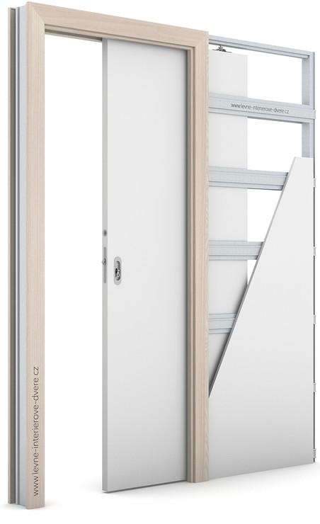 Zárubeň pro posuvné dveře do pouzdra (do zdi) KOMPAKT Portadecor OŘECH BĚLENÝ