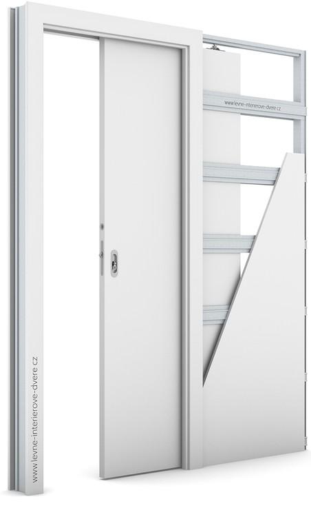 Zárubeň pro posuvné dveře do pouzdra (do zdi) KOMPAKT Portadecor BÍLÁ