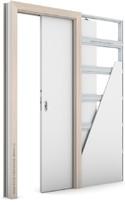 Zárubeň KOMPAKT pro posuvné dveře do pouzdra (do zdi) Laminát CPL OŘECH BĚLENÝ