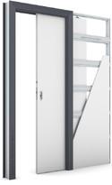 Zárubeň KOMPAKT pro posuvné dveře do pouzdra (do zdi) Laminát CPL ANTRACIT HPL/CPL