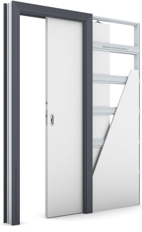 Zárubeň pro posuvné dveře do pouzdra (do zdi) KOMPAKT Laminát CPL HQ ANTRACIT HPL/CPL