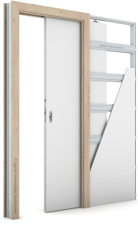 Zárubeň pro posuvné dveře do pouzdra (do zdi) KOMPAKT Portaperfect 3D DUB KLASICKÝ