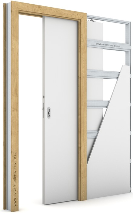 Zárubeň pro posuvné dveře do pouzdra (do zdi) KOMPAKT Portalamino DUB HAMILTON
