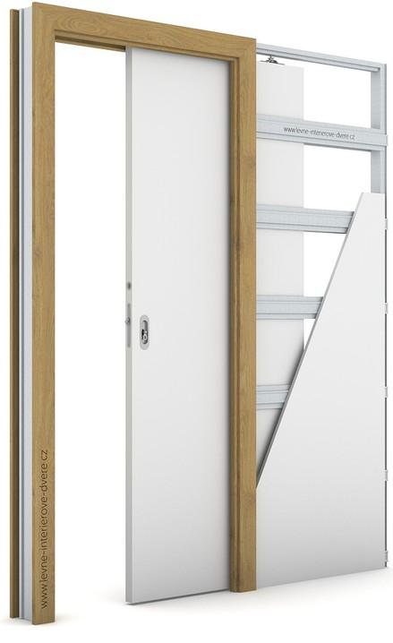 Zárubeň pro posuvné dveře do pouzdra (do zdi) KOMPAKT Portaperfect 3D DUB PŘÍRODNÍ