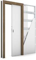Zárubeň KOMPAKT pro posuvné dveře do pouzdra (do zdi) Laminát CPL OŘECH PŘÍRODNÍ