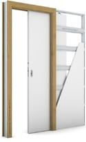 Zárubeň KOMPAKT pro posuvné dveře do pouzdra (do zdi) Laminát CPL DUB PŘÍRODNÍ
