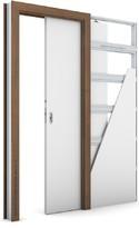 Zárubeň KOMPAKT pro posuvné dveře do pouzdra (do zdi) Portadecor OŘECH
