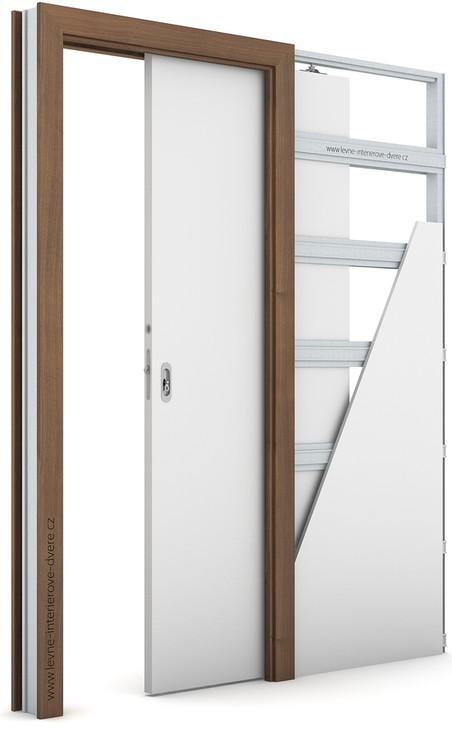 Zárubeň pro posuvné dveře do pouzdra (do zdi) KOMPAKT Portadecor OŘECH