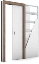 Zárubeň KOMPAKT pro posuvné dveře do pouzdra (do zdi) Portadecor OŘECH VERONA 2