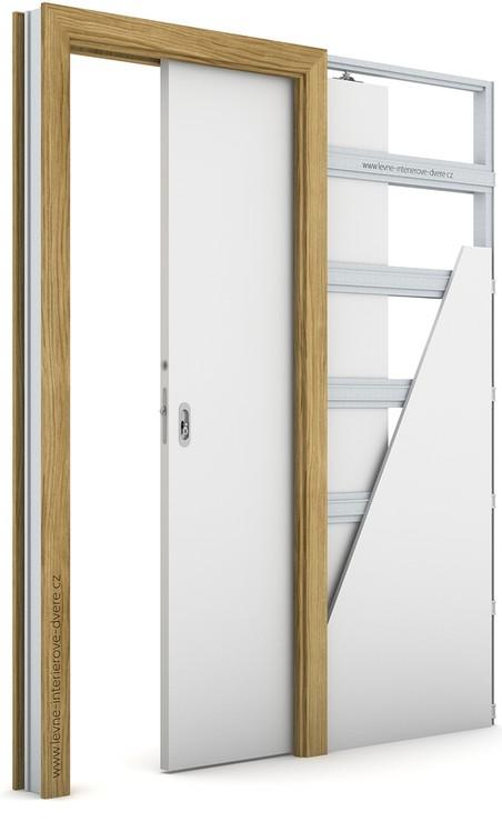 Zárubeň pro posuvné dveře do pouzdra (do zdi) KOMPAKT Portadecor DUB CATANIA