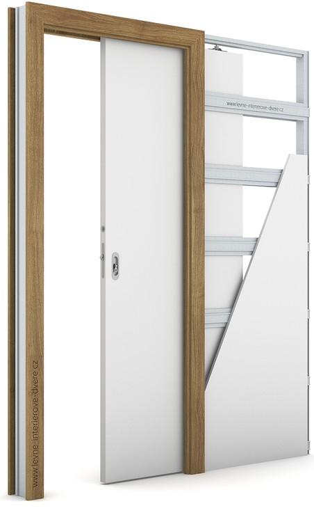 Zárubeň pro posuvné dveře do pouzdra (do zdi) KOMPAKT Portasynchro 3D AKÁT MEDOVÝ