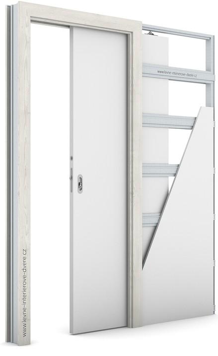 Zárubeň pro posuvné dveře do pouzdra (do zdi) KOMPAKT Portasynchro 3D BOROVICE NORSKÁ