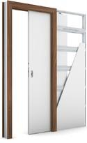 Zárubeň KOMPAKT pro posuvné dveře do pouzdra (do zdi) Laminát CPL OŘECH MODENA 1