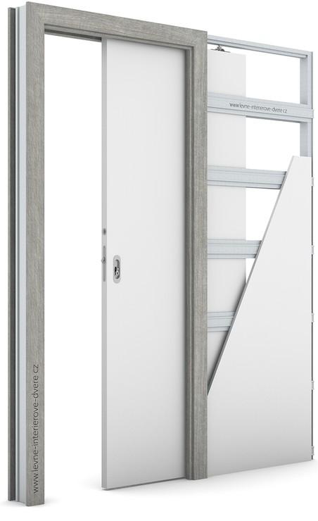 Zárubeň pro posuvné dveře do pouzdra (do zdi) KOMPAKT Portalamino DUB STŘÍBRNÝ