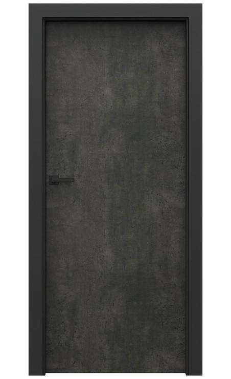 AKCE! Interiérové dveře Porta CPL 1.1 CPL HQ BETON TMAVÝ zárubeň CPL HQ ČERNÁ
