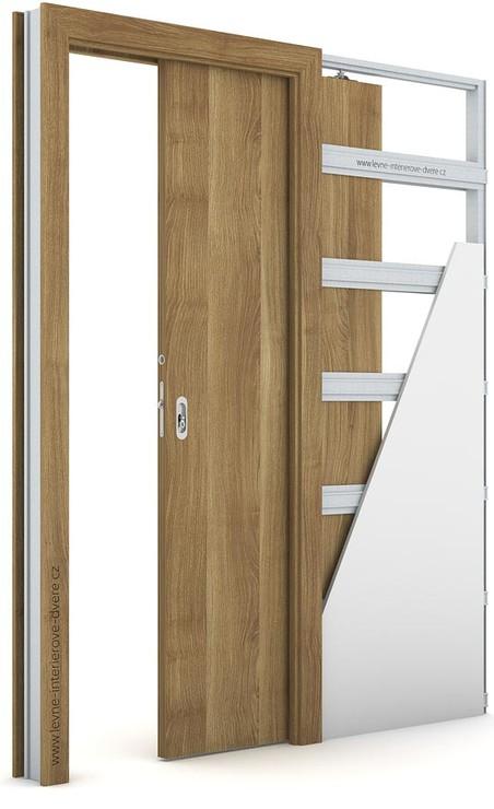 Interiérové dveře Porta DECOR P Portasynchro 3D AKÁT MEDOVÝ